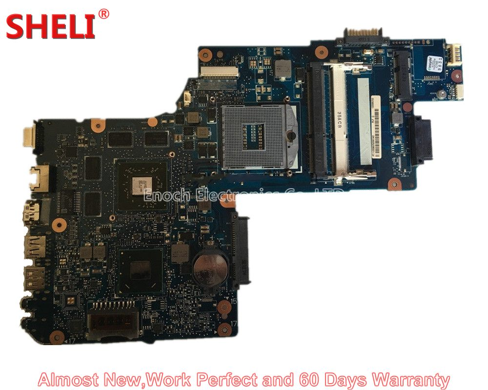 SHELI NEW H000038420 Laptop Motherboard For Toshiba Satellite C850 C855 L850 L855 PLF/PLR/CSF/CSR HM76 HD 7610M Main Board Works sheli v000275560 laptop motherboard for toshiba satellite c850 c855 l850 l855 6050a2541801 uma hd 4000 hm76 main board works