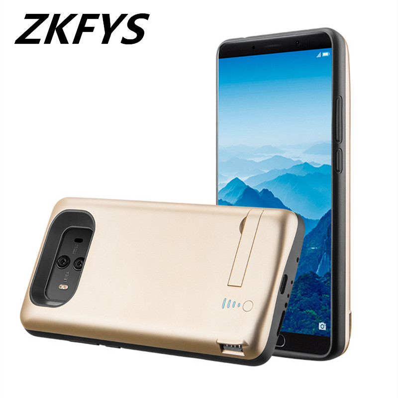 ZKFYS 6000mAh Ultrathin Fast Charger Battery Case For Huawei Mate 10 Pro Bracket External Backup