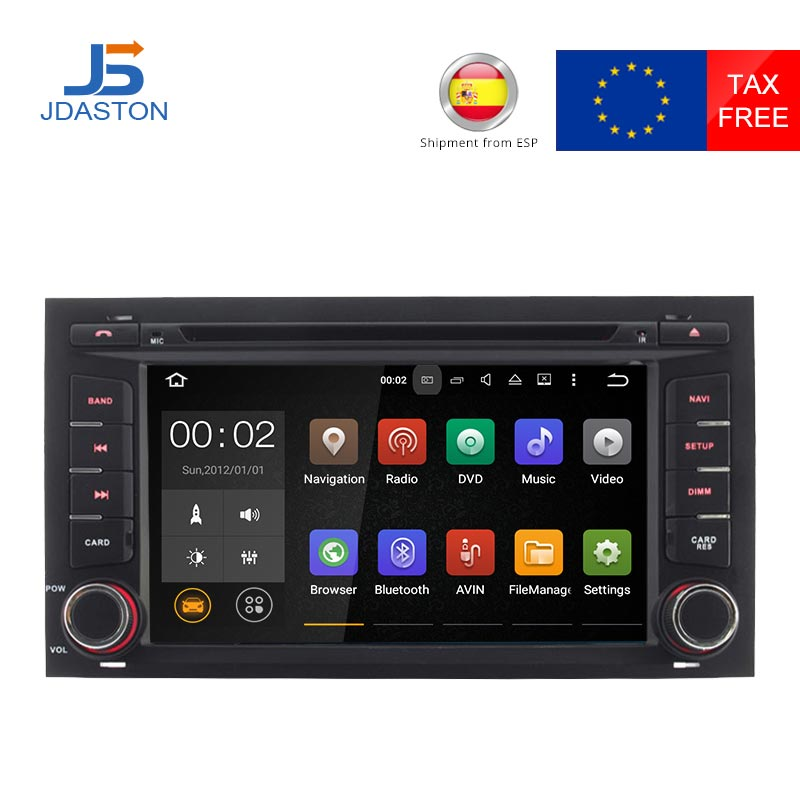JDASTON 1 DIN Android 7.1 Car Radio For Seat Leon 2014 2015 2016 WIFI GPS Navigation auto audio Car DVD Multimedia Video Player car dvd gps android 8 1 player 2din radio universal wifi gps navigation audio for skoda octavia fabia rapid yeti superb vw seat