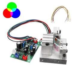 RGB 300 mW modulacji ochrona przed przegrzaniem biały moduł laserowy 638nm + 520nm + 450nm z TTL płyta sterownicza precyzja nauki