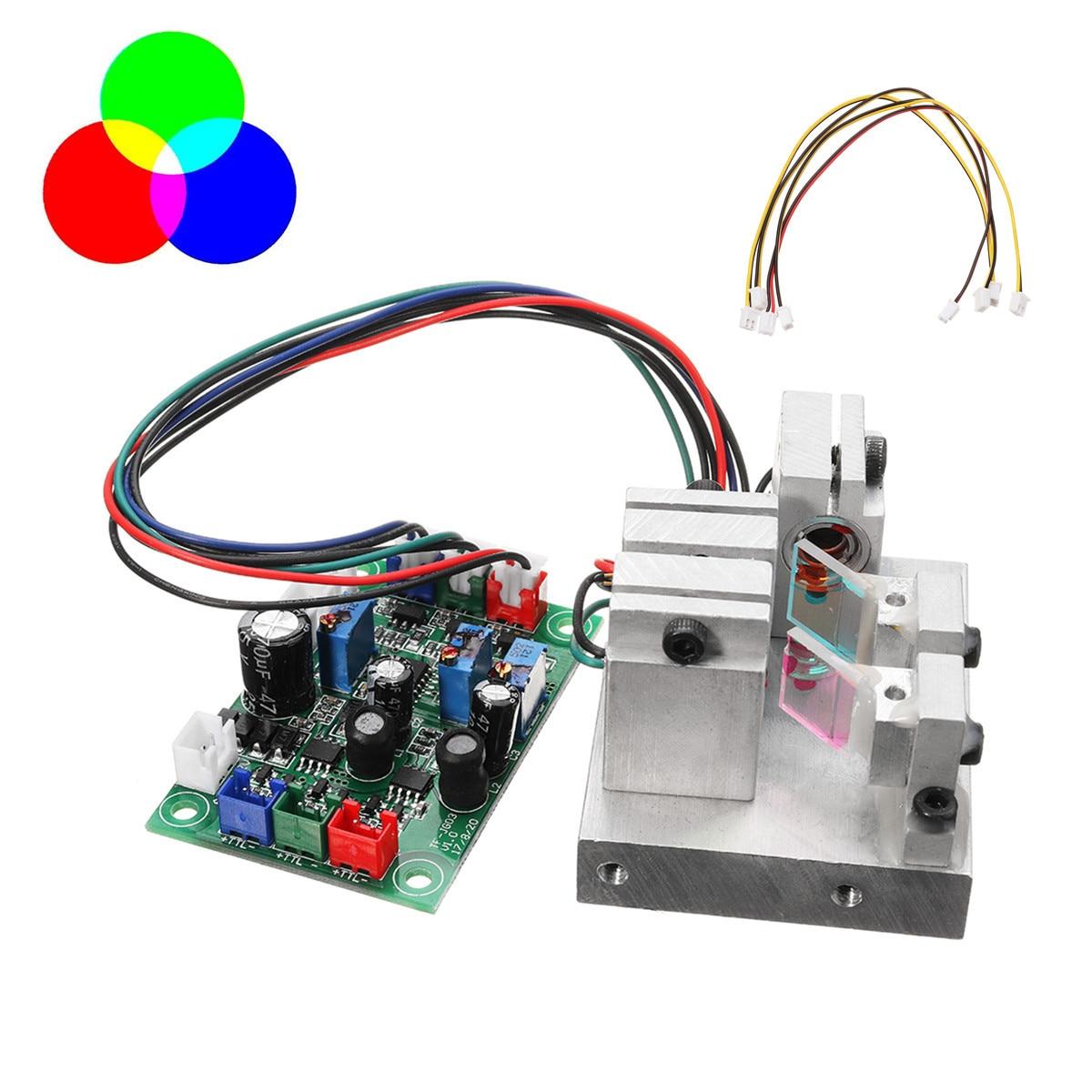 RGB 300mW Modulation Temperature Protection White Laser Module 638nm+520nm+450nm With TTL Driver Board Precision Science