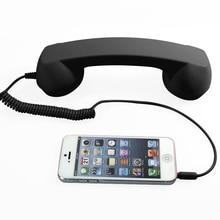 Retro Telephone Receiver 3.5mm Comfort Mini Mic Speaker tele