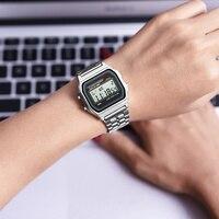 SYNOKE для мужчин's винтажные часы для женщин Ретро светодио дный светодиодный цифровой шок Спорт непромокаемые наручные часы relogio masculino золотые часы