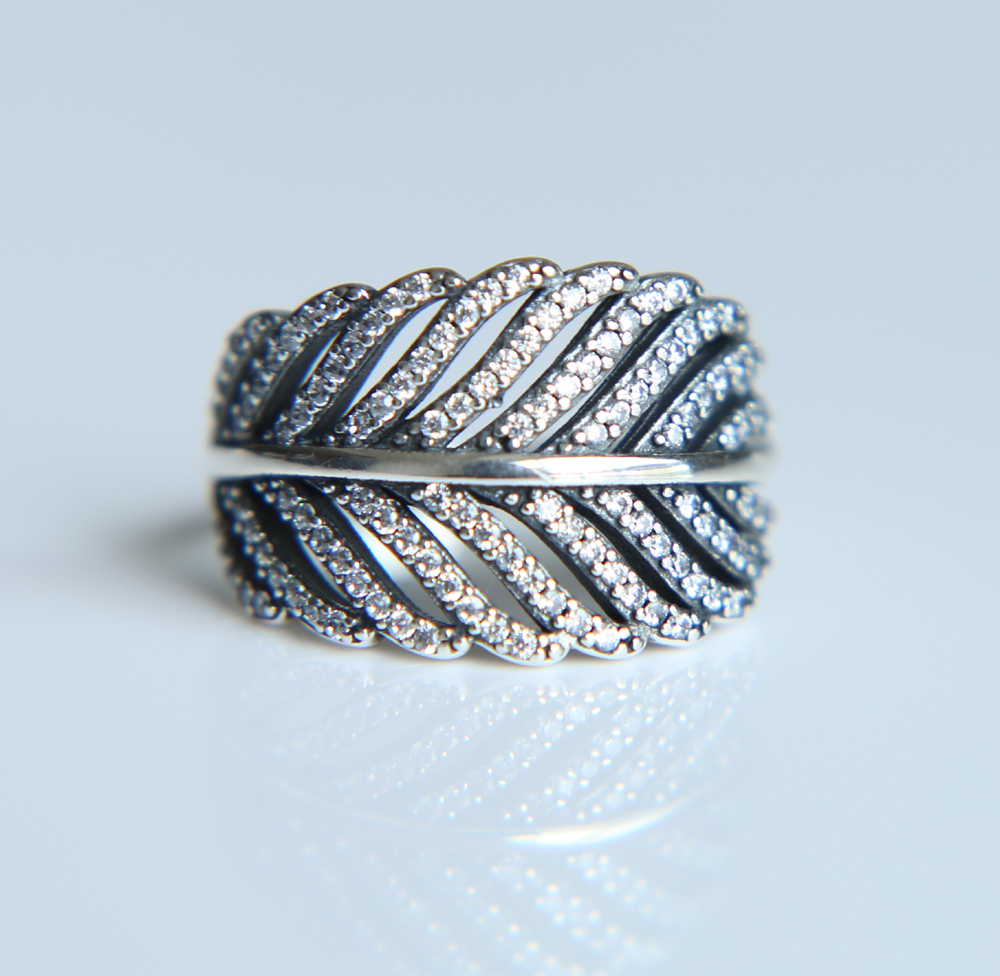Pandora Silver Feather Ring