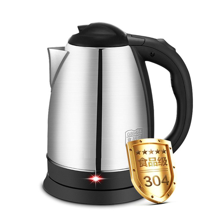 2.0L Electric kettle 304 stainless steel kettle hot water pot 1500W Home automatic cut off power Water Heater Free shipping 220v 600w 1 2l portable multi cooker mini electric hot pot stainless steel inner electric cooker with steam lattice for students