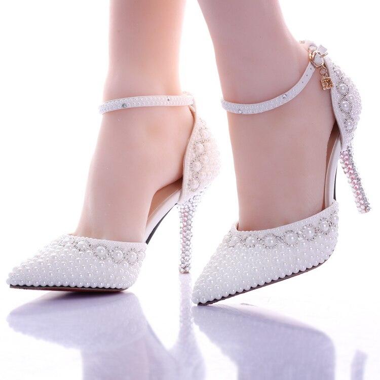 Popular Rhinestone Diamond White High Heels-Buy Cheap Rhinestone ...