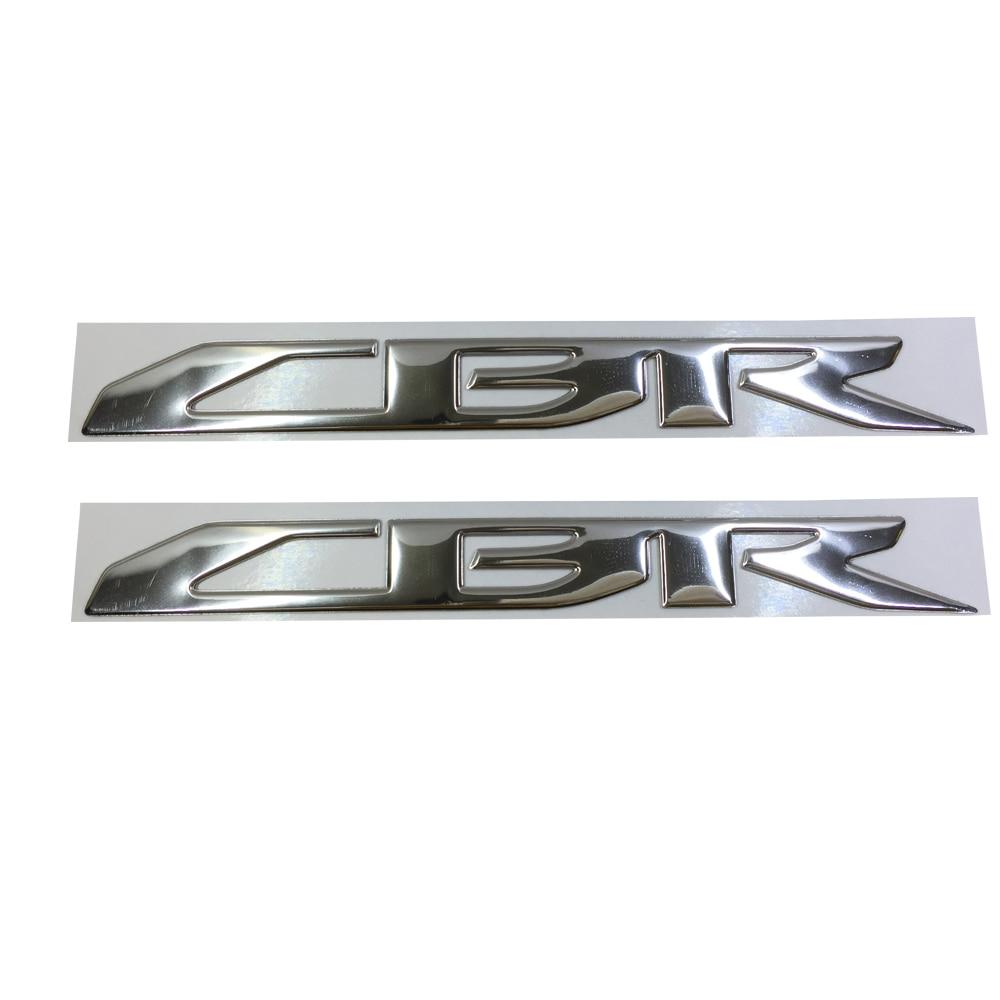 CHROME MOTORCYCLE EMBLEM BADGE DECAL 3D TANK WHEEL LOGO FOR HONDA CBR600RR CBR1000RR STICKER