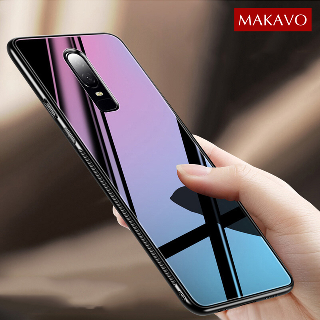 buy popular c0cb2 19185 US $3.74 25% OFF|For Oneplus 6 Case Luxury Hybrid Tempered Glass Back Cover  Oneplus6 Shockproof Hard Housing for One Plus 6 Phone Cases-in Fitted ...
