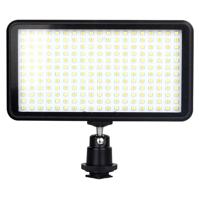 Levou 228 Contínua Na Câmera Luz Do Painel de Led, câmera Filmadora portátil Pode Ser Escurecido Levou Painel de Iluminação Para Dslr Câmera de Vídeo-Ca