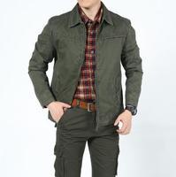 Spring new men's jacket, business cotton casual men's Lapel coa