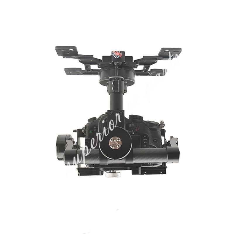 Cardan sans balais HG3D + trois axes avec GH3 GH4 GH5 édition intégrée HDMI à AV obturateur à distance pour la photographie RC FPV - 4