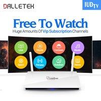 Dalletektv Leadcool IPTV Smart Android 6.0 TV Box H265 STB mit Iptv Europa Arabisch QHDTV IUDTV Konto IPTV 1 Jahr abonnement