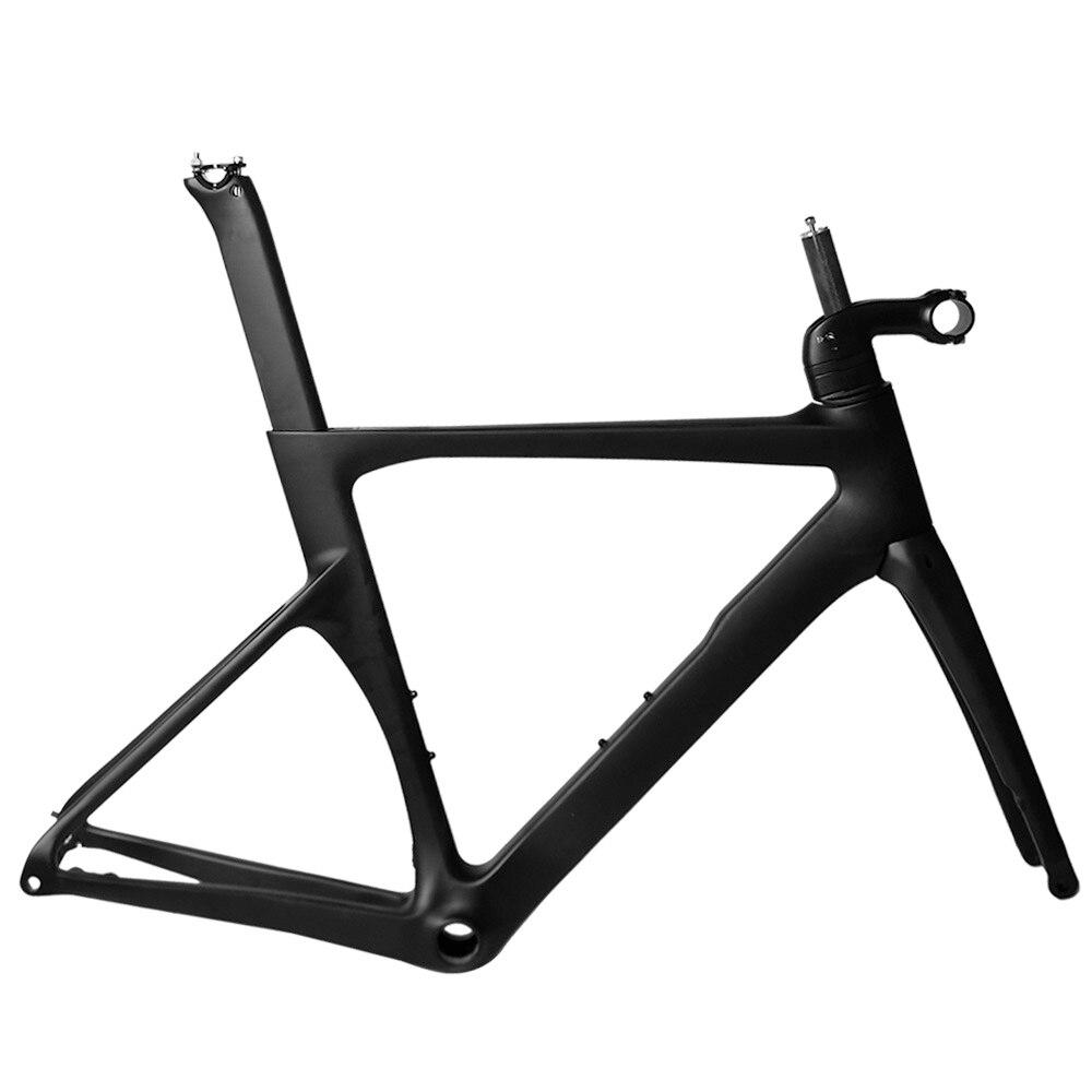 Top selling fire carbon road bike frame 700C chinese 2018 racing bicycle frameset disc brake axle thru BB86 lace see thru cloak top