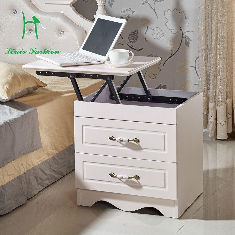 simple multifunctional bedside cabinet korean modern lifting lockers creative personality side. Black Bedroom Furniture Sets. Home Design Ideas