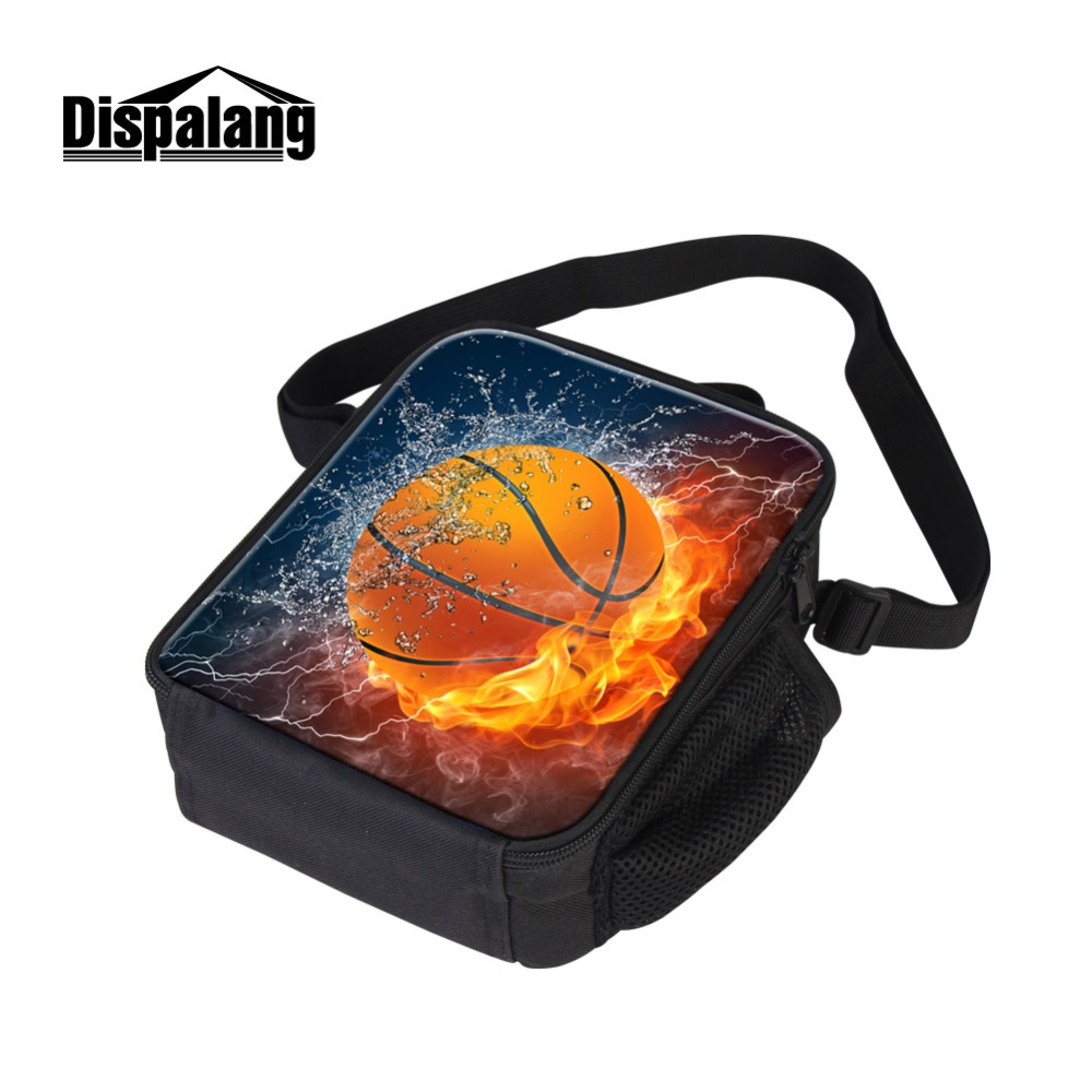 Dispalang Footballs Printing Lunch Sack for Teenager Custom Logo Thermal Insulated Picnic Food Lunchbox Boy Portable Cooler Pack