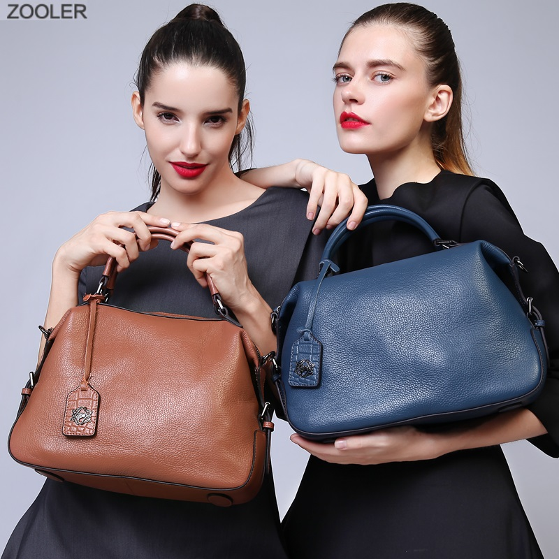 ZOOLER 2019 designed soft genuine leather bags women leather handbags brands luxury shoulder bag hot tote