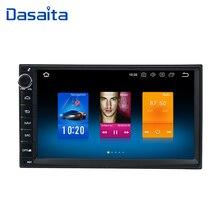 Dasaita Android 8,0 автомобиль Двойной Дин радио 4*50 Вт универсальный для Nissan Qashqai X-Trail Patrol tiida Versa Livina Navara NP300