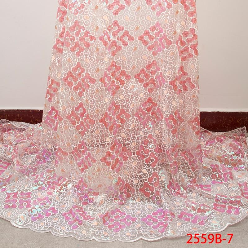 Ev ve Bahçe'ten Dantel'de Nijeryalı Net dantel kumaş son popüler pullu dantel kumaş yüksek kaliteli dantel kumaş elbise kadın düğün akşam APW2559B 7'da  Grup 1