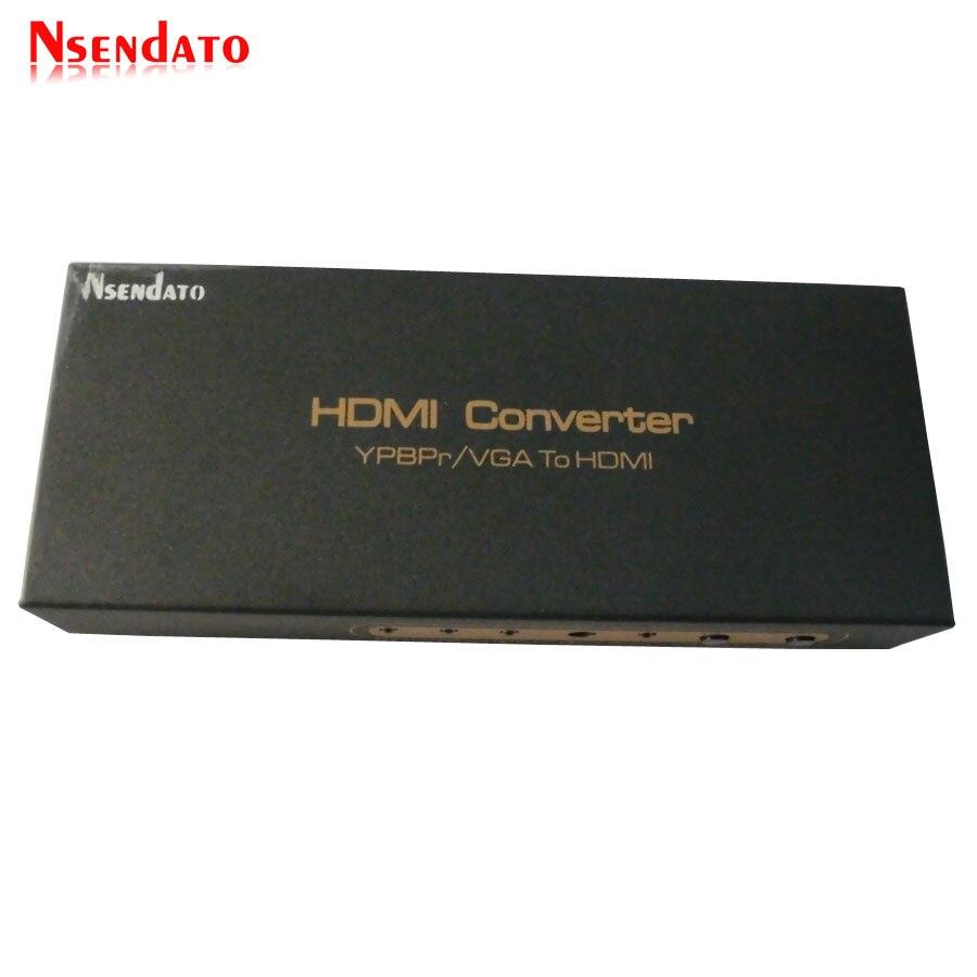 1080 P Ypbpr VGA R/L entrée Audio analogique HDMI adaptateur séparateur de sortie vga YPBPr vers HDMI convertisseur Support PAL NTSC