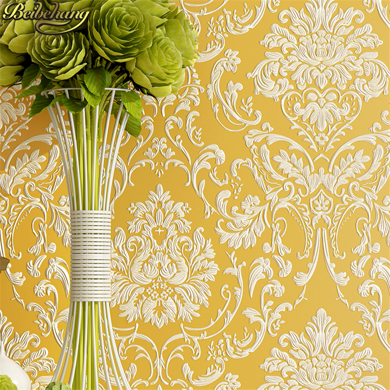 beibehang Luxury 3d wallpaper for walls 3 d mural papel de parede 3d flocking Gold wall paper roll pink wall papers home decor