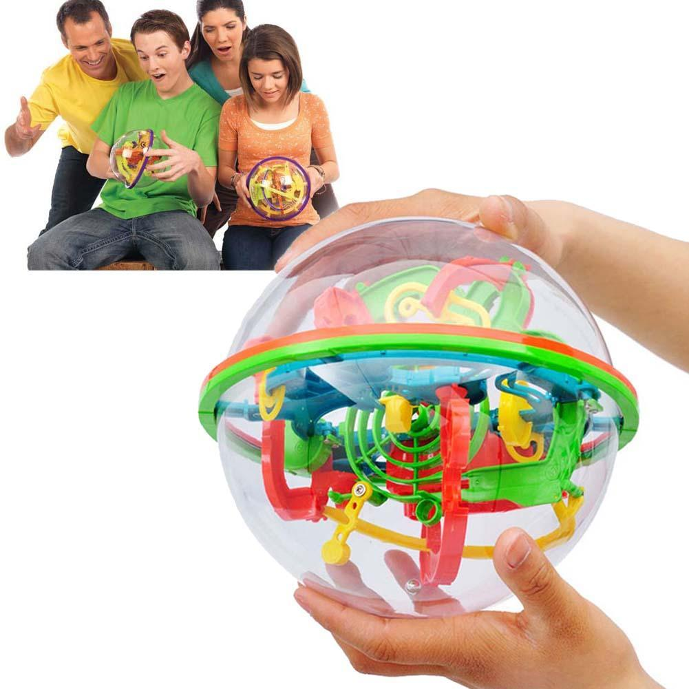 Classic 3d Puzzle Ball Large Puzzle Games With 100 Number Tricky Maze Stages Addict Ball Maze 3D Puzzle Game Educational Toys