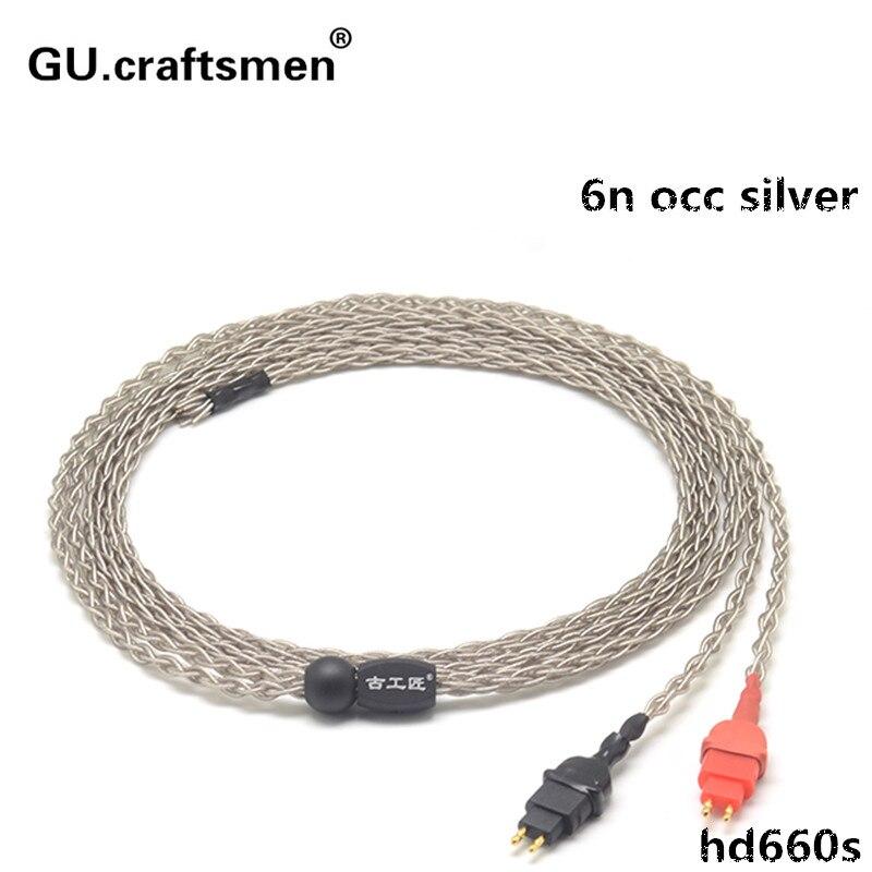 6n occ argent HD600 HD650 HD660s 4.4mm Balanec câble 2.5mm équilibre Casque câble À La Main