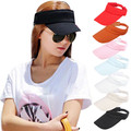 Stylish Fashion 2015 Summer Women Visor Sun Plain Hat Sports Cap Colors Golf Tennis Hat Adjustable Beach Headwear
