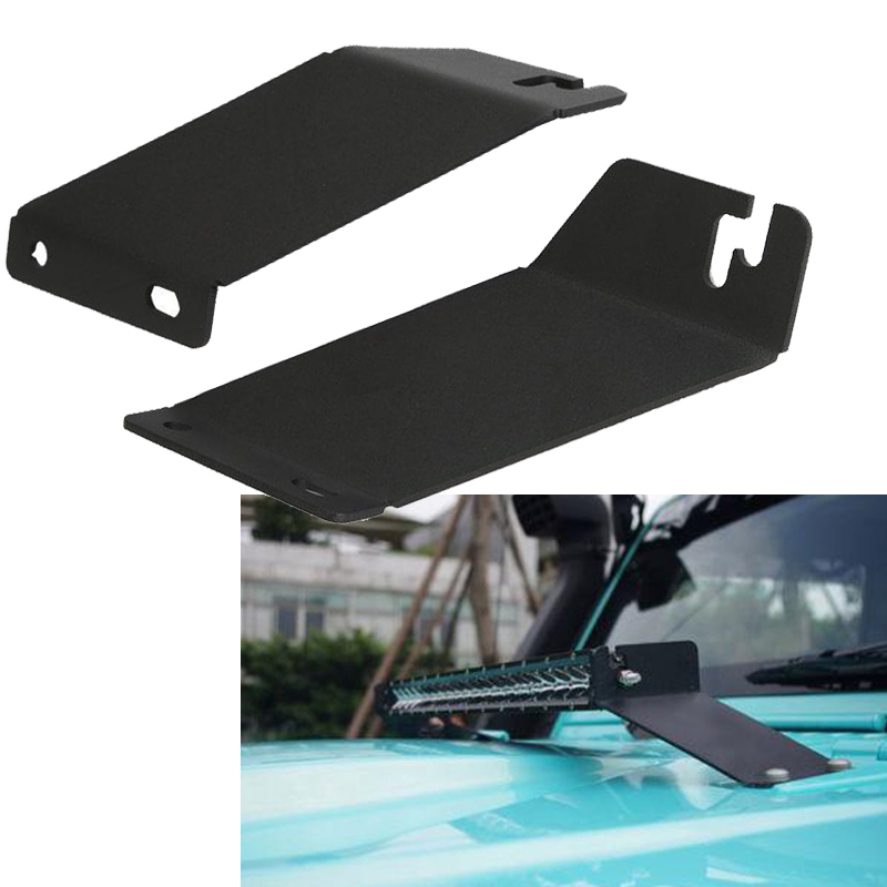 20 22 led work light bar metal hood mount bracket for 07. Black Bedroom Furniture Sets. Home Design Ideas