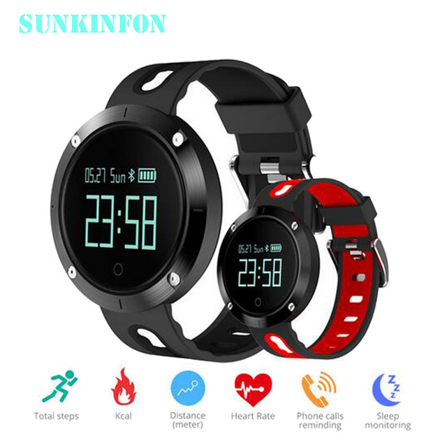 DM58 Smart Bracelet IP68 Waterproof Blood Pressure Heart Rate Monitor Call Reminder Sports Smart Band PK GV08 DM68 GT08 DZ09 #B2