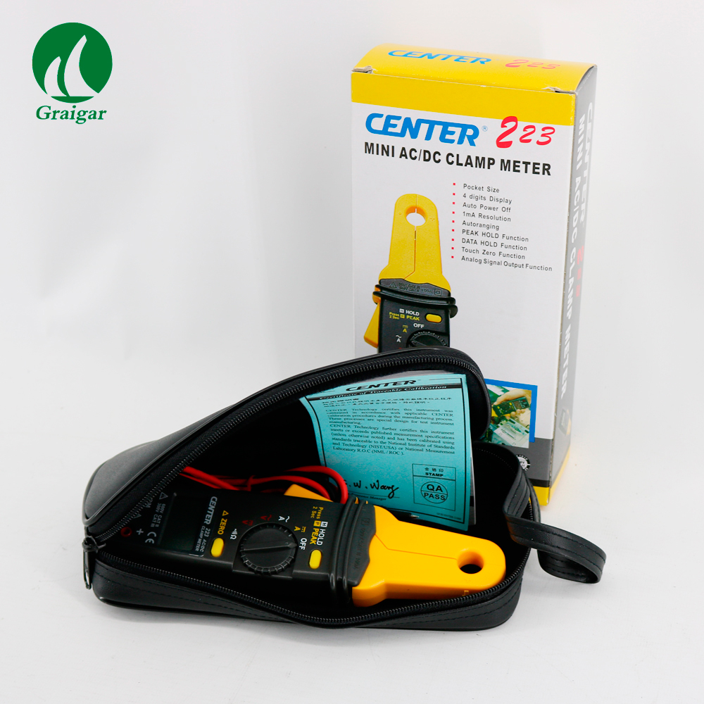 CENTRO 223 Mini Clamp Meter Clamp Meter Tester AC Clamp Meter 3 1/2 4 digital liquidi del display - 2