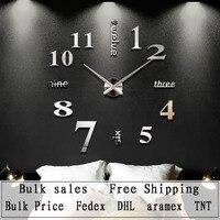 Home Decoration Quartz Big Wall Clock Modern Design 3D DIY Large Decorative Wall Clocks Watch Wall