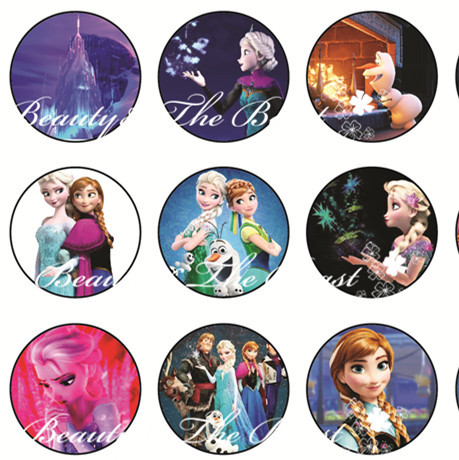 Snow Queen Princess Stickers Cupcake Toppers Birthday Party