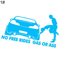 No Free Rides Gas or Ass Car Stickers 4
