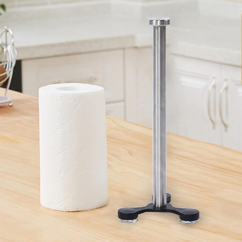 APOLLO COPPER FINISH DELUXE METAL KITCHEN ROLL PAPER TOWEL HOLDER RACK STAND