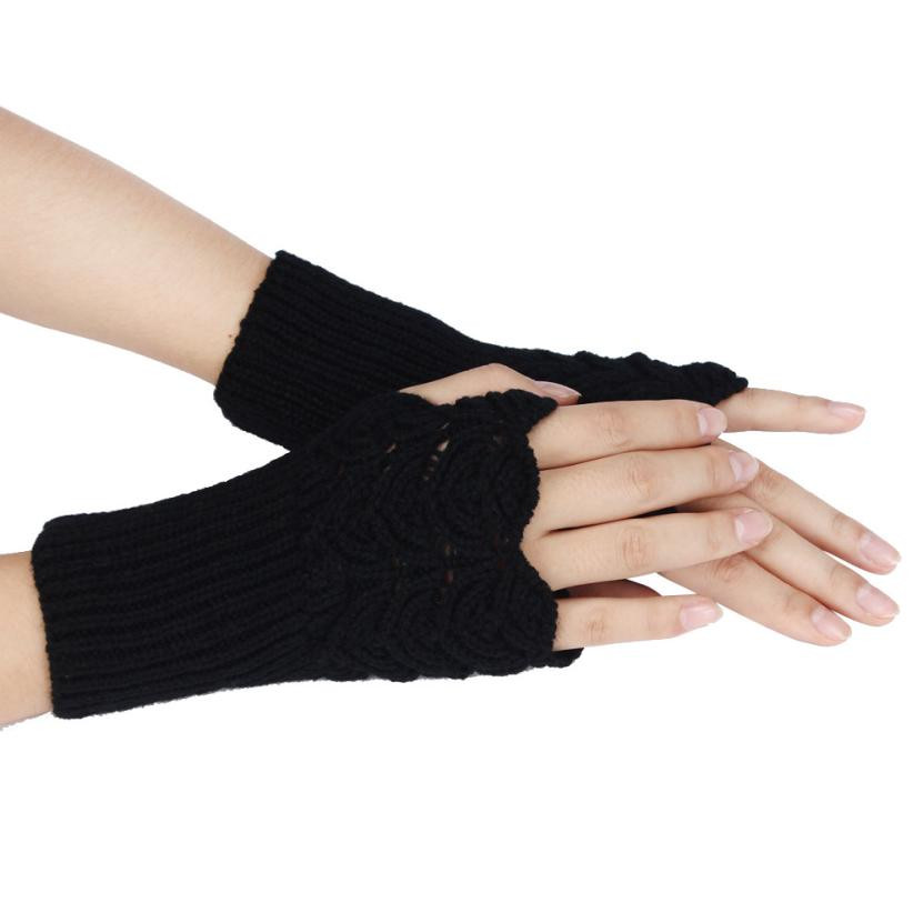 Women Winter Warmer Glove Mitten Warm Fingerless Glove Gants Femme Knitted 1pair