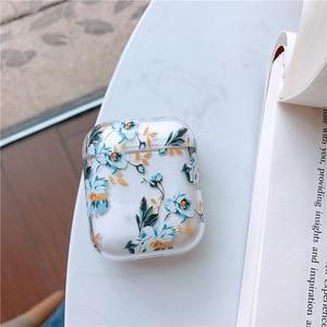 Image 5 - สำหรับAirPodsกรณีดอกไม้ใสไร้สายบลูทูธหูฟังสำหรับApple Airpods 2 Fundaแฟชั่น