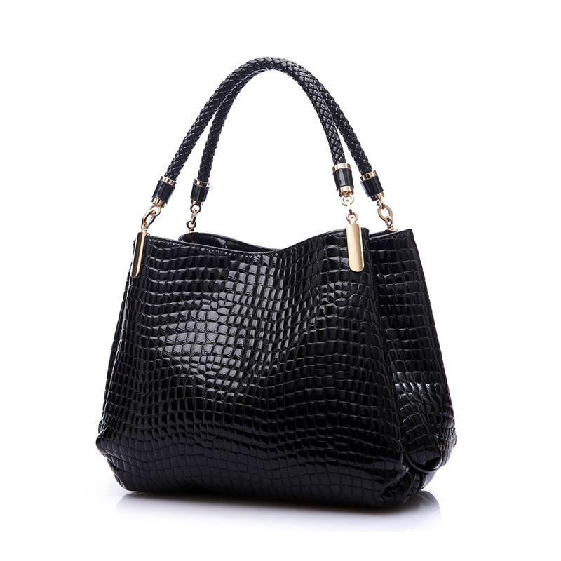 ФОТО women real High-grade PU leather handbag women's messenger bag tote bags crocodile leather bags shoulder bag bolsas 2017 new