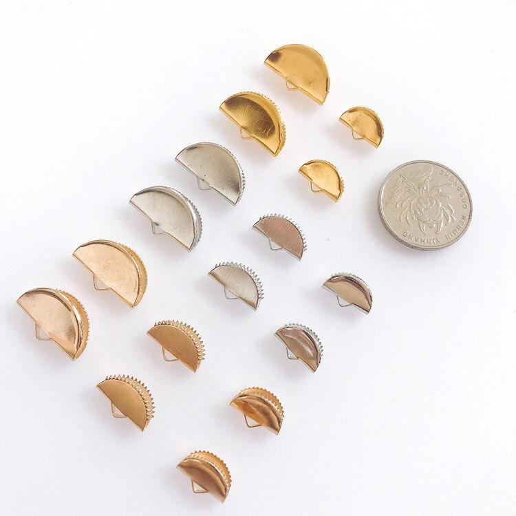 12mm Clasps /& Copper Glass Drop UK 6 Sets Rose Gold Crimp Ends for 8mm Ribbon