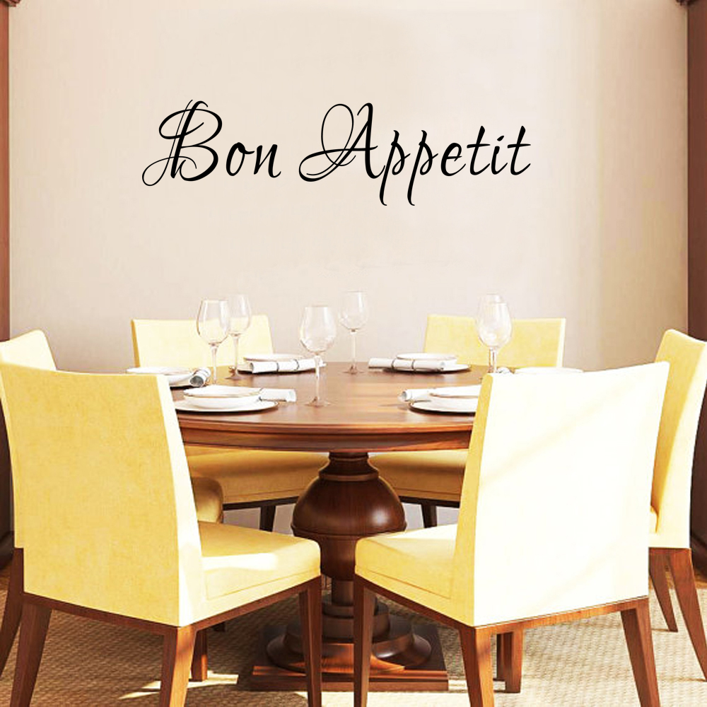 Dining Room Wall Decal Bon Appetit Vinyl Art Kitchen Quotes Stickers 33cm X 122cm