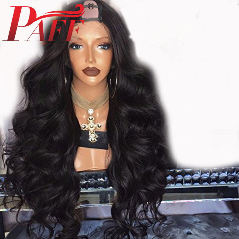 PAFF 180% Density U Part Wigs Body Wave Middle Part 1*3 U Part Human Hair Wigs For Women Brazilian Remy Hair Natural Color