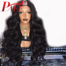 PAFF 180% Density U Part Wigs Body Wave Middle 1*3 Human Hair For Women Brazilian Remy Natural Color