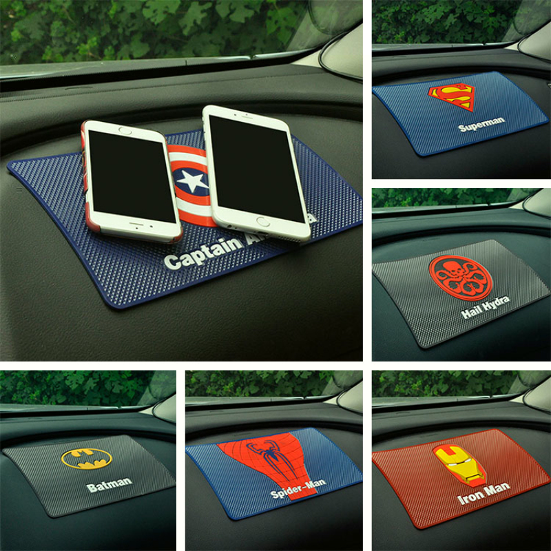 Batman Car Phone Mat Cartoon Car Dashboard Sticky Pad Anti
