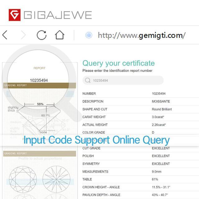 Gigajewe real d cor 1-3ct redondo moissanite qualidade superior teste de diamante solto passou gem diy para fazer jóias 5