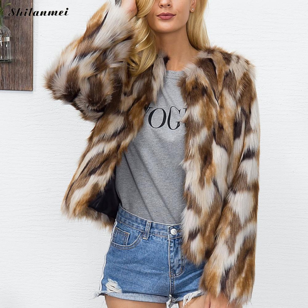 En Manches Femme Plus S 3xl De Chaud Moelleux Fausse Fourrure Taille Longues Veste Manteau La 2017 Luxe Mode Femmes À Hiver Poilu Survêtement S8fwq851