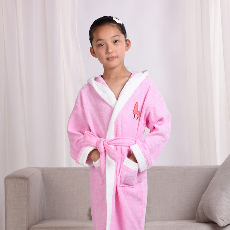 sanky home child pajamas 1pc robes u0026 gown clothing 100 cotton hooded bathrobe kidspajamas children - Terry Cloth Robe