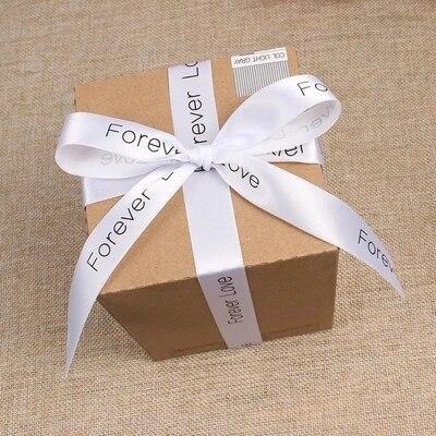 Ruban en soie Satin pour logo imprimé personnalisé | Emballage cadeau, décoration en polyester satin pour gâteau floral de mariage de 100 mètres/lot