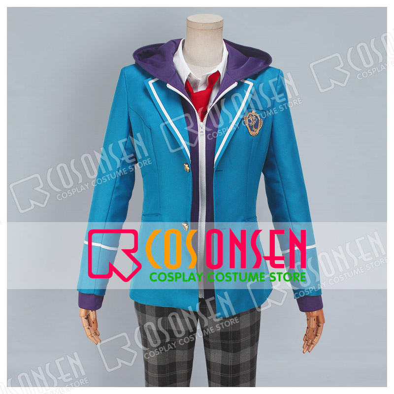 COSPLAYONSEN Ensemble Stars Yumenosaki Private Academy Shinobu Sengoku Cosplay Costume Blue Uniform Full Set