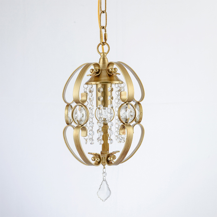 Luminaria American Retro Crystal Iron Chandelier Living Room Bedroom Restaurant Golden Vintage Art LED Lighting Free Shipping vintage clothing store personalized art chandelier chandelier edison the heavenly maids scatter blossoms tiny cages