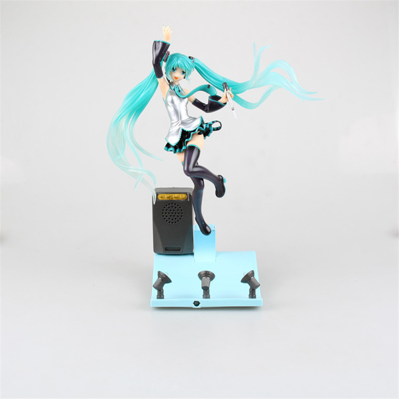 Anime Cartoon Hatsune Miku Light&Music Stage Miku Brinquedos PVC Action Figure Juguetes Collectible Model Doll Kids Toys 29cm anime lovely danboard danbo doll juguetes pvc action figure brinquedos kids toys with led light 13cm collection model 2styles