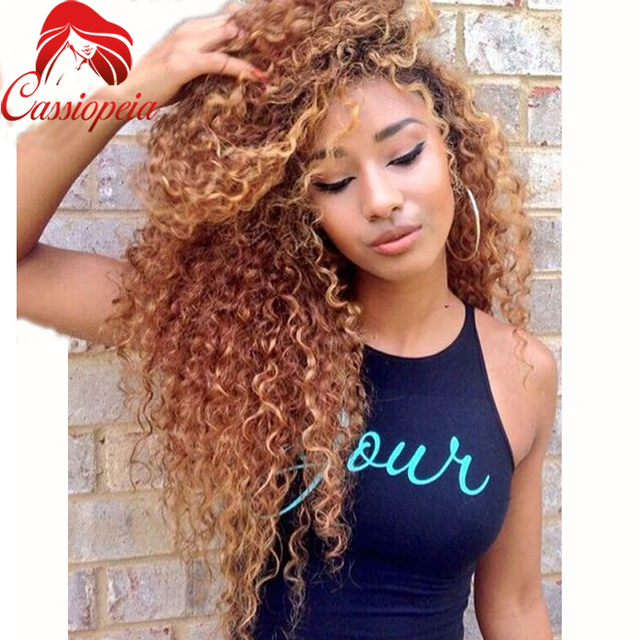 130Density Blonde Full Lace Wigs Remy Human Hair